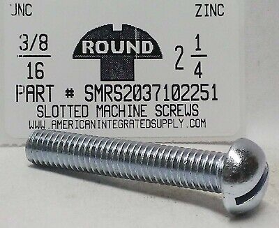 10 #8-32x4-1//2 Round Head Slotted Machine Screws Steel Zinc Plated