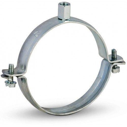 Ofenrohr Rohrhalter 100 mm verzinkt mit Schrauben 9cm Rohrschelle Wandhalter
