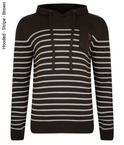 Crosshatch New Men/'s Jumpers Crew Neck V Neck Hooded Style Knit Sweater Pullover