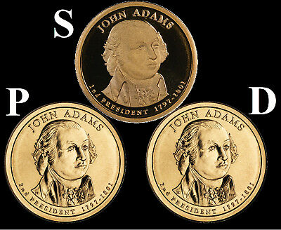 2007 P D John Adams Presidential Dollars From BU Mint Set Combined Shipping