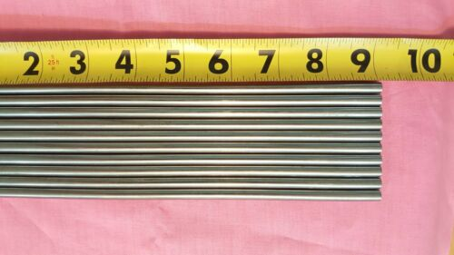 3//8 Inch Diameter 10 Pieces 9 Inches Long 303 Stainless Steel Round Rod