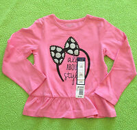 Toddler Girl Clothes: Falls Creek Pink Long Sleeve All About Style Shirt 2t