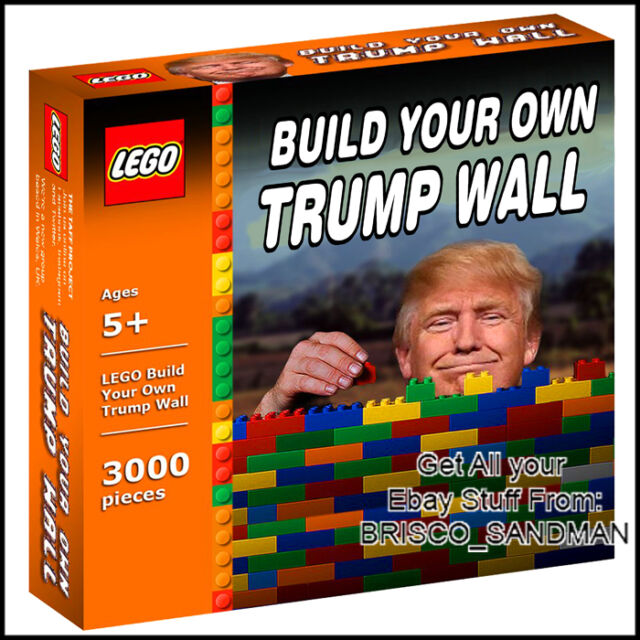 Image result for donald trump lego border wall