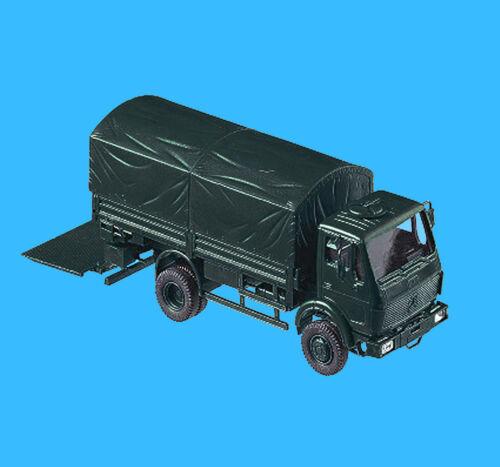 Roco Minitanks H0 637 MB 1017 A LKW + Ladebordwand BGS Bundesgrenzschutz HO 1:87