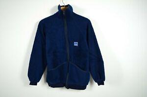 Helly-Hansen-Herren-Blue-Vintage-Sherpa-Jacke-Made-in-Norwegen-Groesse-S