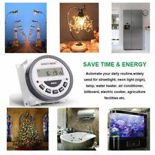 230vac 7 Days Programmable Digital Timer Lighting Switch Output 220v Voltage New