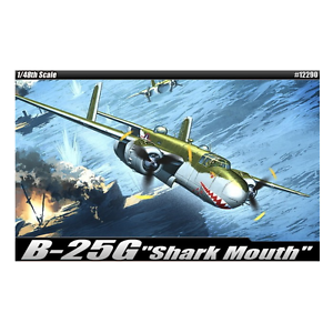 Academy - 1 48 Scale B-25G  Shark Mouth  Plastic Model Kit