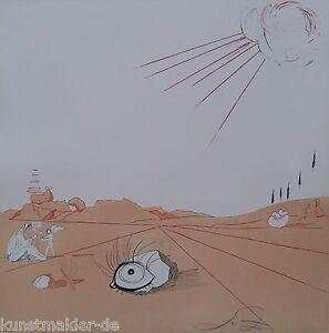 MUSEALE-Salvador-Dali-Original-Radierung-245-Espace-paysage