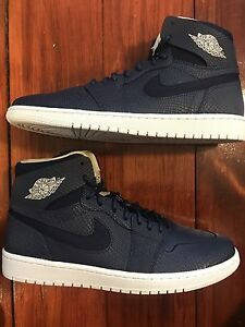 sale retailer 98503 aeacc Image is loading Nike-Air-Jordan-1-Retro-High-Nouv-Navy-