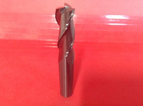 "CARBIDE END MILL 3//8/"" DIA 1/"" LOC 3 FLUTE HIGH HELIX FOR ALUMINUM 2-1//2 OAL USA"