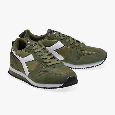 Scarpe da uomo Diadora Olympia 70225 verde bian Sneakers passeggio sportiva nuov | eBay