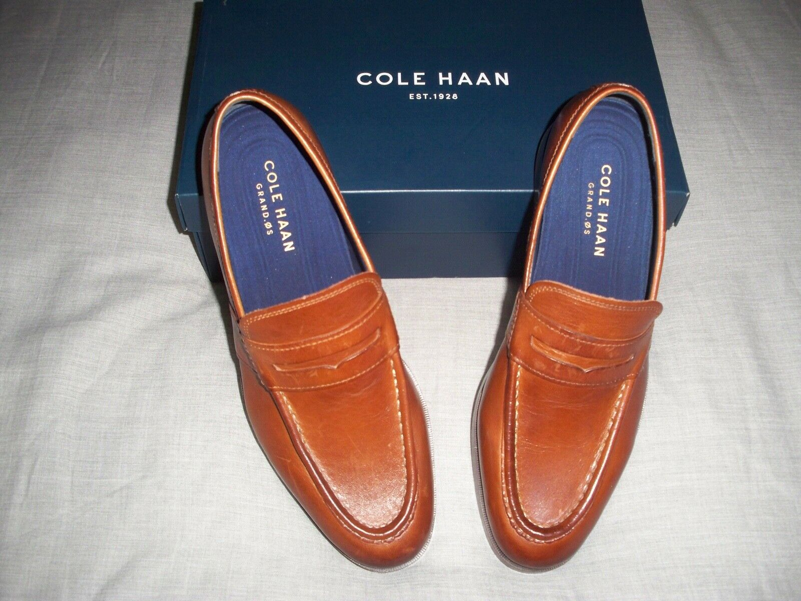 COLE HAAN MEN'S CLASSIC PENNY LOAFERS - 8.5 WIDE