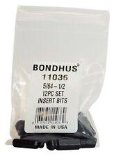"5pcs 1//8/"" Hex Power Bits 3/"" Long w1//4/"" Quick Change Hex Shank Bondhus USA #10307"