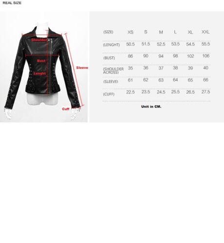 in Y474 voorraad Heavy Australië Top Punk Bikers Jacket Rave Metal Nieuwe Alle Gothic 3Aj5R4L