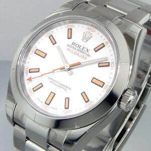Image Is Loading Unworn Rolex Milgauss 116400 White Dial Steel Oyster