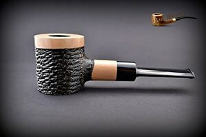 HAND-MADE-UNIQUE-WOODEN-TOBACCO-SMOKING-PIPE-Poker-Pear-034-No-63-034-White