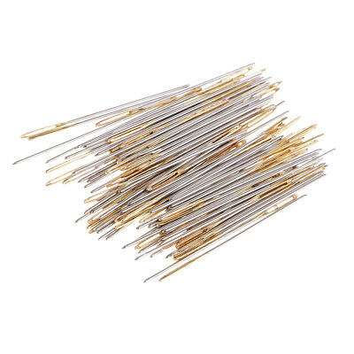 90Pcs Thick Gold Eye Needle Embroidery Tapestry Hand Sewing Needles 22 24 26