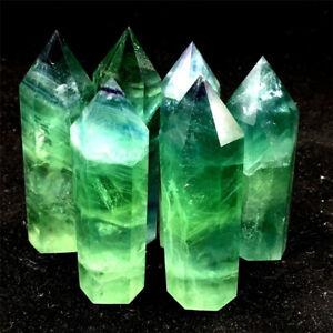 Natural-Green-Fluorite-Quartz-Crystal-Stone-Point-Healing-Hexagonal-Wand-Reiki