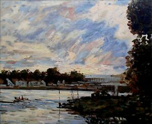 Quality-Hand-Painted-Oil-Painting-Repro-Claude-Monet-Seine-at-Bougival-20x24in