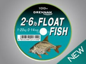 Drennan-Float-Fish-Line-New-All-Breaking-Strains-Available-100m-FREE-P-P