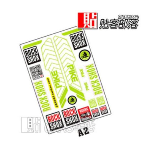 Reflective Road MTB Bike Bicycle Frame Stickers Rockshox Logo Fork Decals
