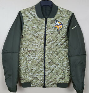3174f0e00 Image is loading NIKE-MINNESOTA-VIKINGS-SALUTE-TO-SERVICE-BOMBER-JACKET-