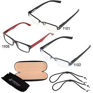 c9901d40e8f Image is loading Unisex-Mens-Womens-Reading-Glasses-Metal-Frame-Slim-