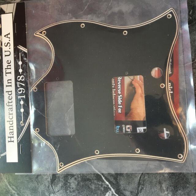 /'71-Present Wide Bevel 5 Ply Black//Cream Pickguard for Gibson SG /'61 Reissue