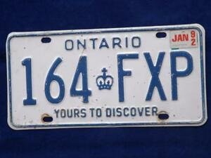 Man Cave Stores In Ontario : Ontario license plate fxp vintage muscle car truck shop