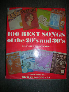 Details about Hard Cover Piano Songbook: 100 best songs of the 20's and 30's