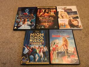Job-Lot-Bundle-Girls-Disney-DVD-039-s-X5-Lizzie-McGuire-Hannah-Montana-Enchanted