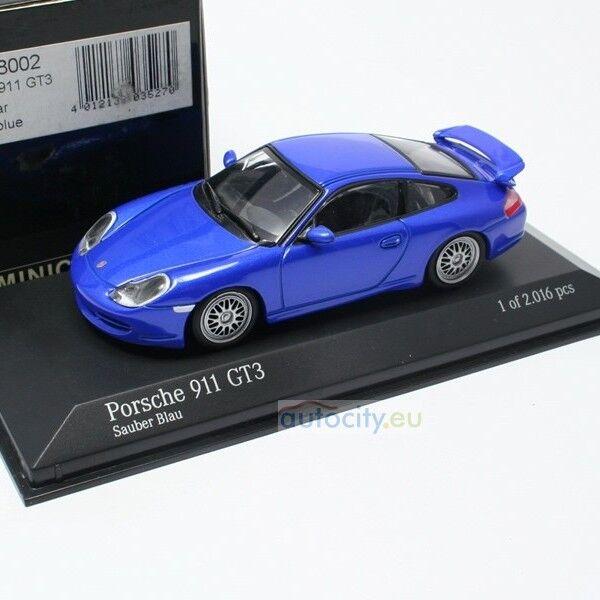 MINICHAMPS PORSCHE 911 GT3 SAUBER BLAU 430068002