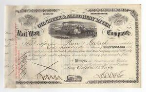 Western Allegheny Railroad Company. Stock Certificate