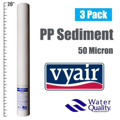 """Vyair 20/"""" PP 50 µ polydepth//Sedimentos Osmosis Inversa//Filtro De Agua X 3"""