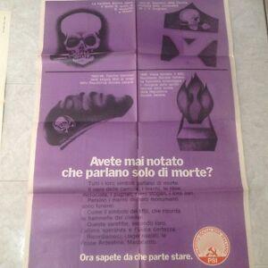 Manifesto politico elettorale originale anni 70 - Italia - Manifesto politico elettorale originale anni 70 - Italia