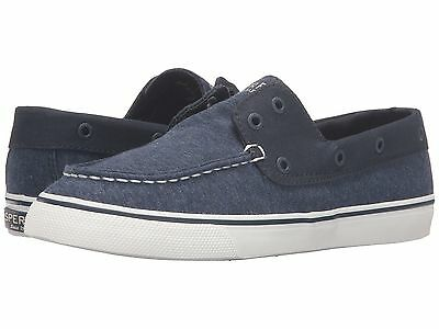 fc687b050e998 NEW SPERRY TOP SIDER BISCAYNE NAVY FABRIC LACELESS BOAT SHOES   eBay