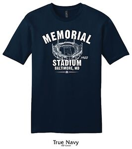 Memorial Stadium 1953 Football Tee Shirt - Past Home of the Baltimore Colts