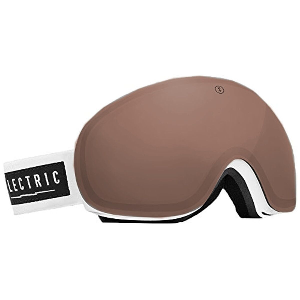 Electric Visual EG3 Gloss Weiß Snowboarding Goggles (Bronze)