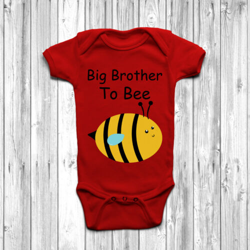 Big Brother To Bee Baby Grow Body Suit Vest Gift Birth Announcement Arrival