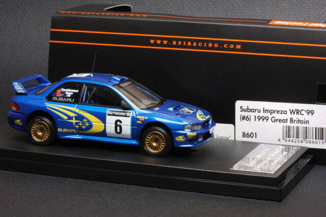 1 43 Hpi 8601 Subaru Impreza Wrc 99 Great Britain 1999 6 Model Cars