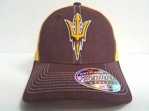 uk availability 242a3 52cc4 Image is loading Arizona-State-Sun-Devils-Cap-Zephyr-Stretch-Fit-