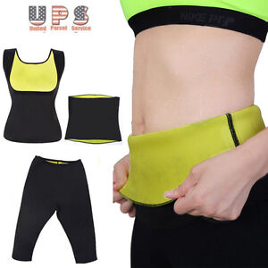 3b379e7ab9559 New Women Neoprene Body Shaper Set Slim Waist Pants Belt Yoga Sweat ...