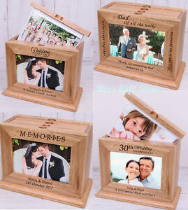 Image is loading PERSONALISED-Wooden-PHOTO-Album-Unusual-Gift-Ideas-For-