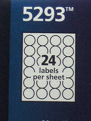 120 Avery 5293 Laser Burst Round Labels - 5 Sheets, 24 labels per sheet