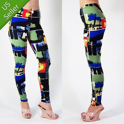 Camouflage Camo Graffi Sexy Modern Trendy Hot Leggings Abstract Art Tight Pants
