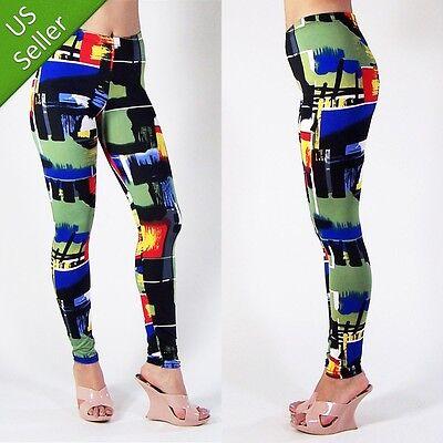 Camouflage Camo Graffi Sexy Modern Trendy Hot Leggings Abstract Art Tight Pants