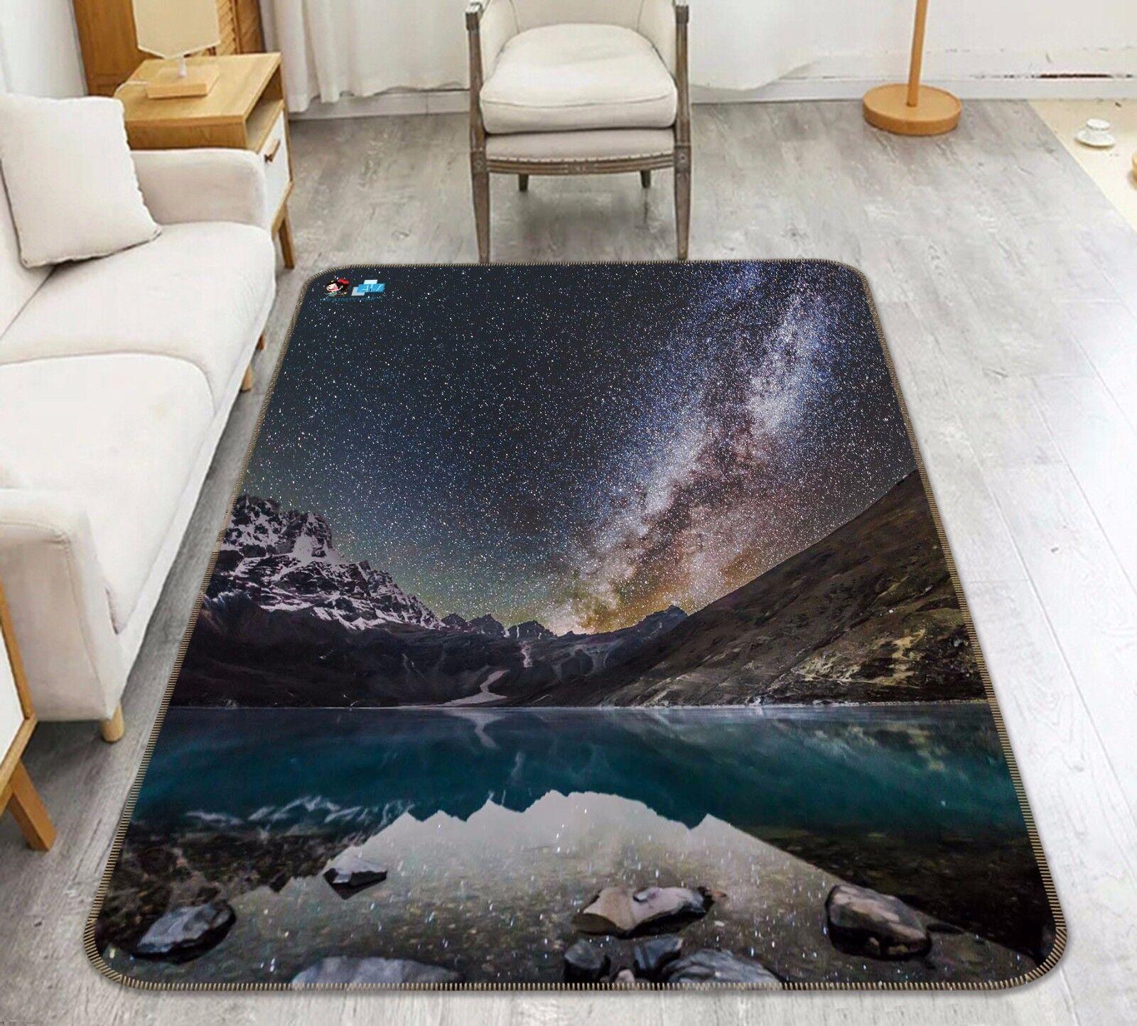3d río montaña 465 antideslizante alfombra alfombrilla para maletero alfombra elegante de