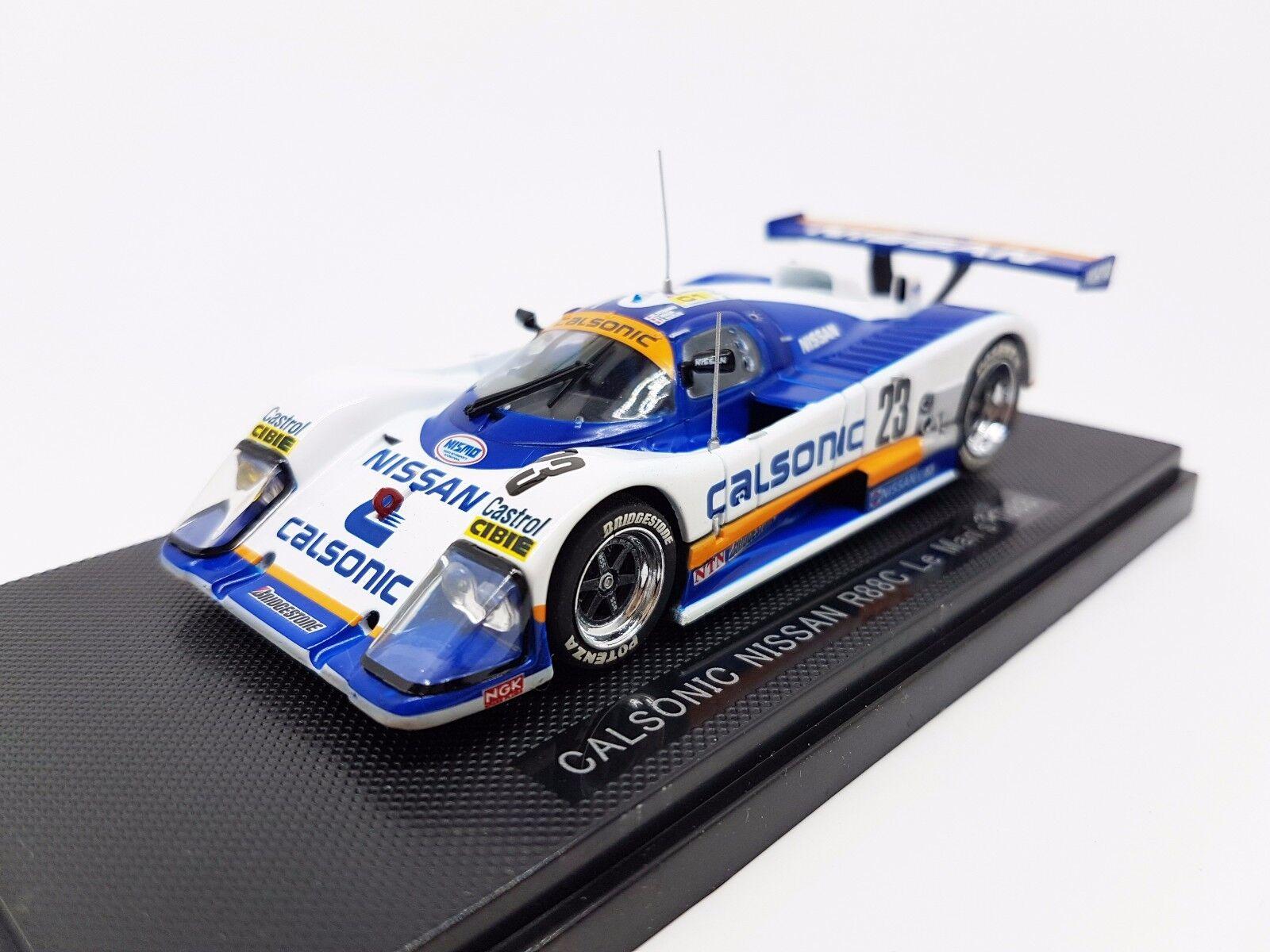 Rare 1 43 Ebbro Calsonic Nissan R88C Le Mans 1988 White bluee 680