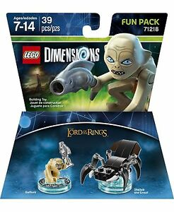 LEGO-DIMENSIONS-Movie-Fun-Pack-Gollum-Lord-of-Rings-Shelob-71218-39pcs-Golem