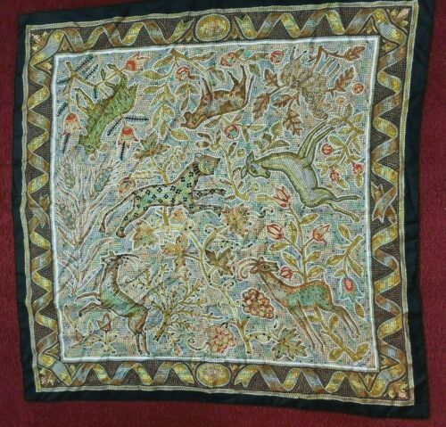 100% AUTHENTIC RARE HERMES SILK SCARF PAVEMENT BY